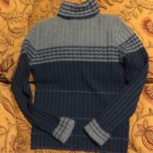 NWOT Fuzzy Cozy Striped Turtleneck
